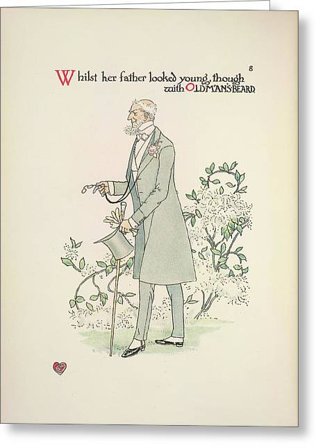 A Flower Wedding Greeting Card by British Library