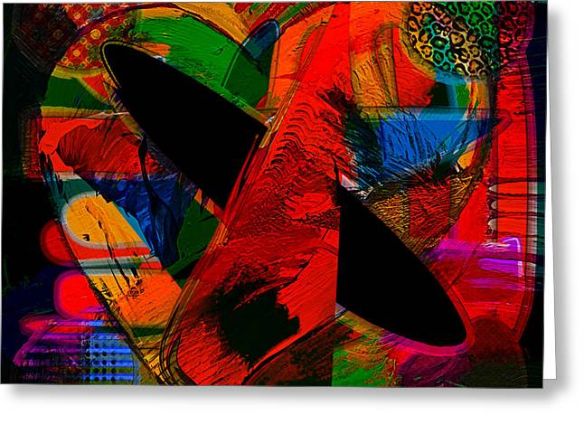 Abstract Art Collection Greeting Card by Marvin Blaine