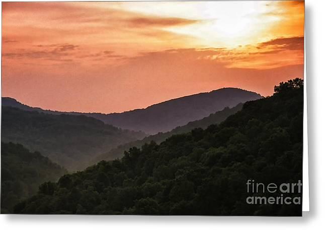 Appalachian Sunset Greeting Card by Thomas R Fletcher
