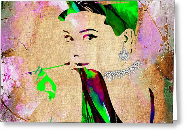 Audrey Hepburn Diamond Collection Greeting Card