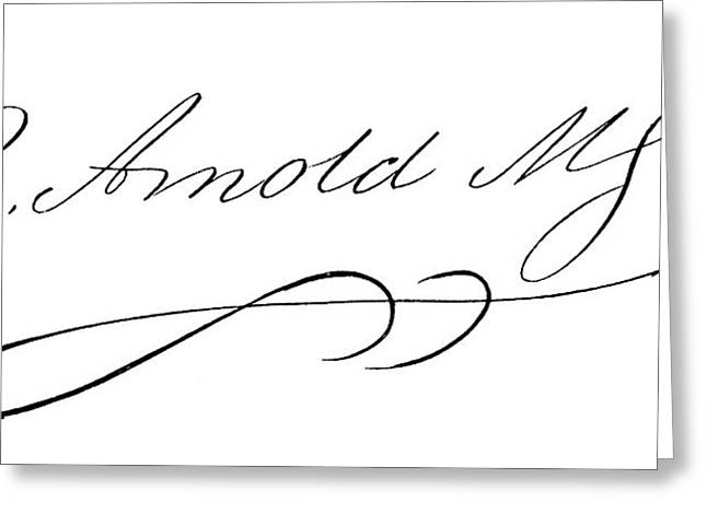 Benedict Arnold (1741-1801) Greeting Card by Granger