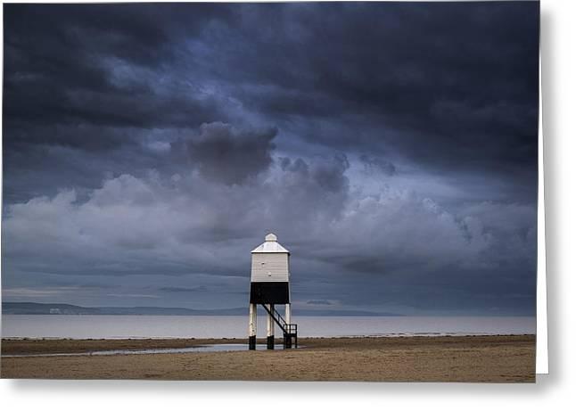 Burnham Lighthouse Landscape Image Sunrise Summer Greeting Card by Matthew Gibson