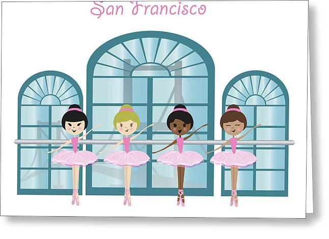 Dance And Ballet Greeting Card by Kike Calvo