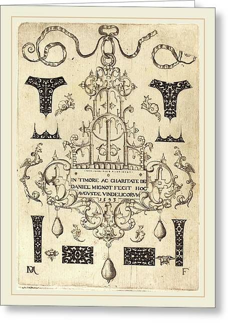 Daniel Mignot German, Active 1593-1596 Greeting Card by Litz Collection