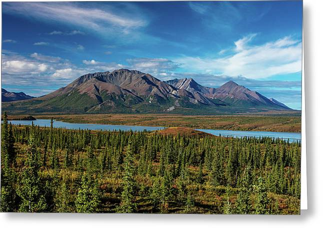 Denali Highway, Route 8, Offers Views Greeting Card