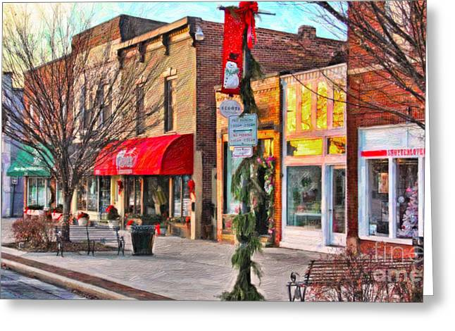 Downtown Perrysburg Greeting Card