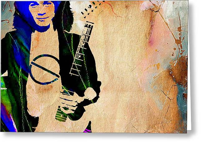 Eddie Van Halen Collection Greeting Card by Marvin Blaine