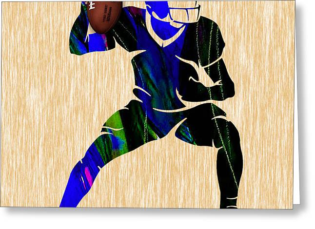 Football Greeting Card by Marvin Blaine