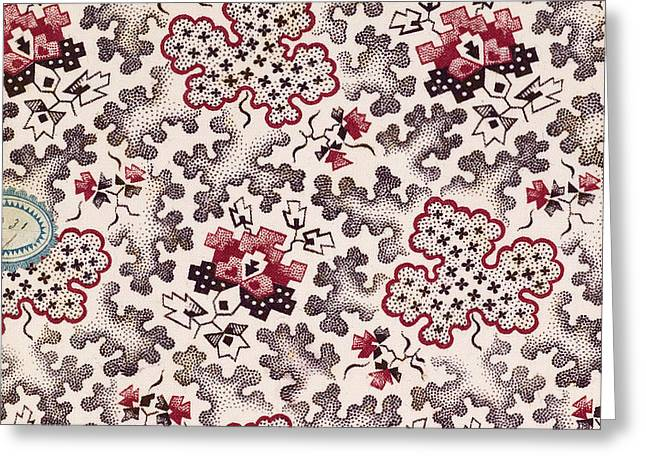 French Fabrics First Half Of The Nineteenth Century 1800 Greeting Card by Litz Collection