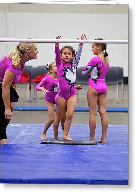 Junior Olympics Greeting Card by Jim West