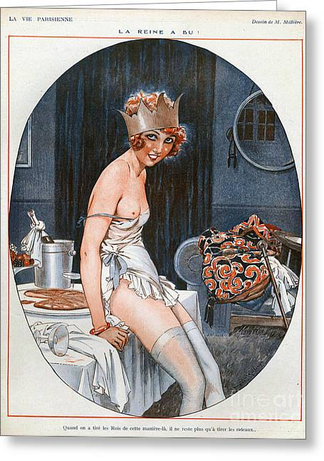 La Vie Parisienne  1926 1920s France Cc Greeting Card by The Advertising Archives