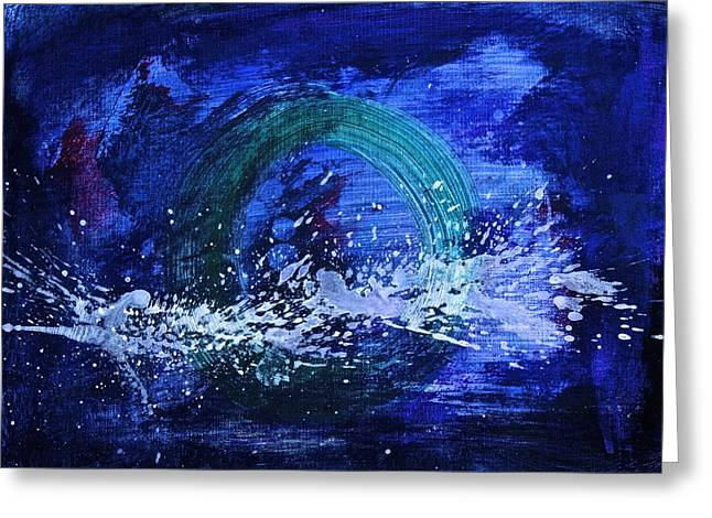 Greeting Card featuring the painting White Splash by Tracey Myers