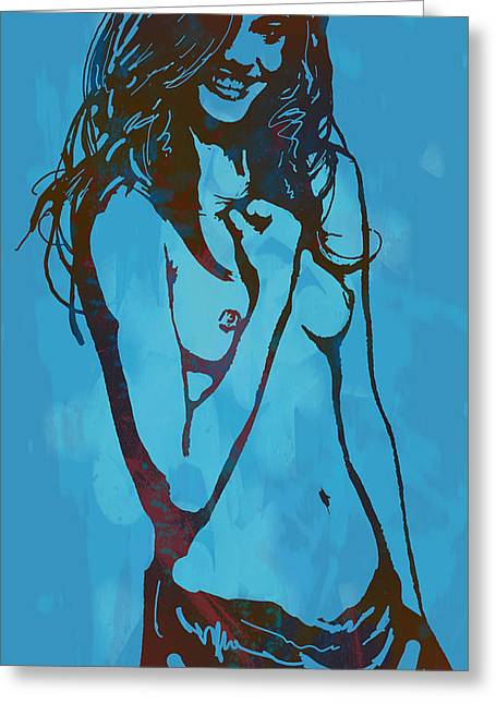 Nude Pop Stylised Art Poster Greeting Card