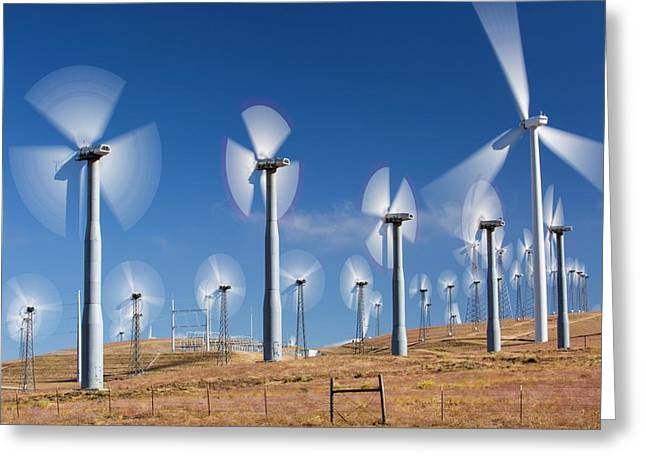 Part Of The Tehachapi Pass Wind Farm Greeting Card