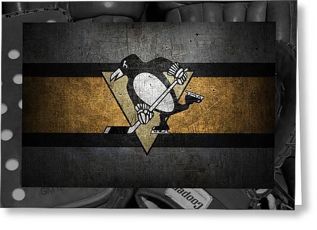 Pittsburgh Penguins Greeting Card by Joe Hamilton