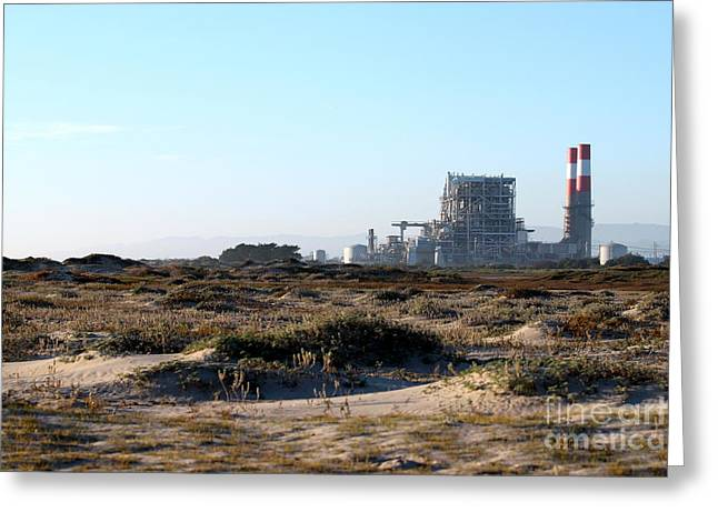 Power Station Greeting Card by Henrik Lehnerer