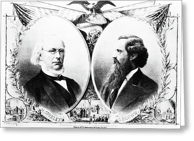 Presidential Campaign, 1872 Greeting Card
