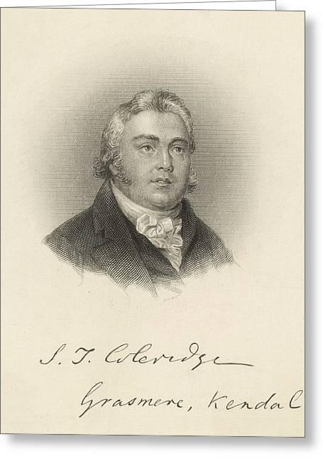 Samuel Taylor Coleridge  English Poet Greeting Card