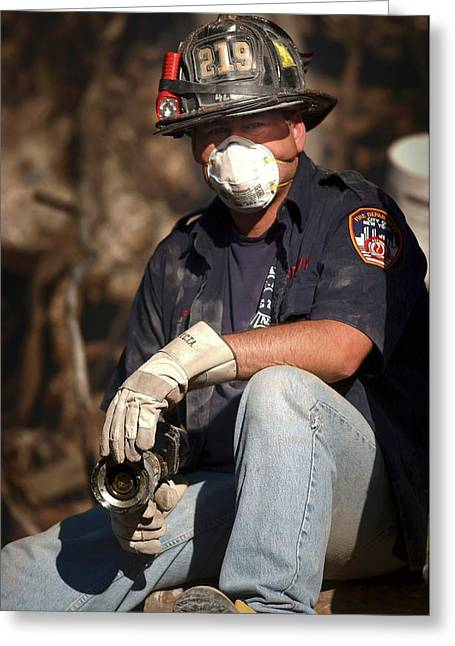 11 September Rescue Worker Greeting Card