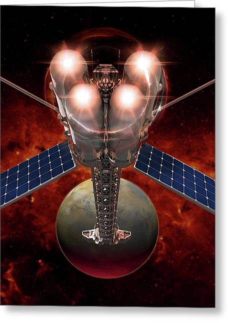 Spacecraft Greeting Card