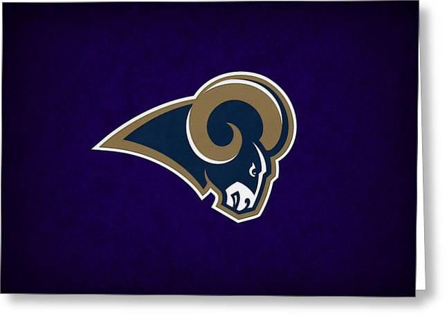 St Louis Rams Greeting Card by Joe Hamilton