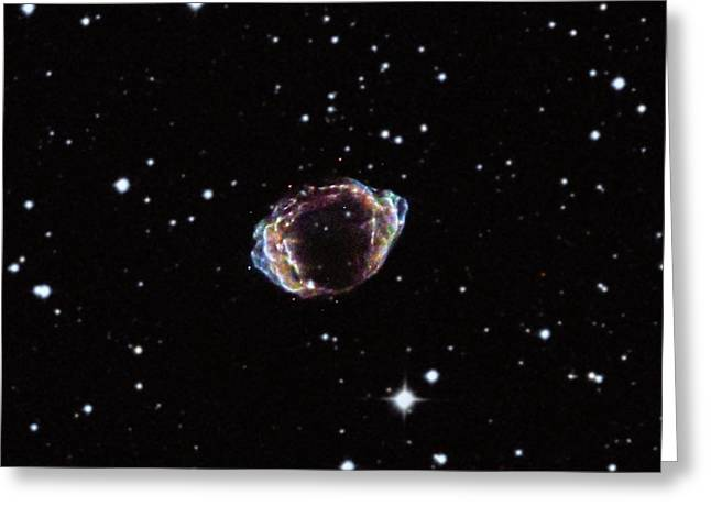 Supernova Remnant Greeting Card by Nasa