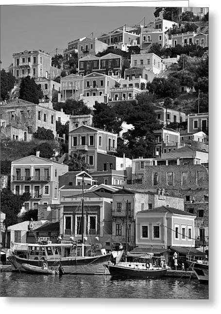Symi Island Greeting Card by George Atsametakis