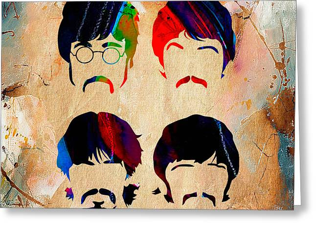 The Beatles Collection Greeting Card by Marvin Blaine