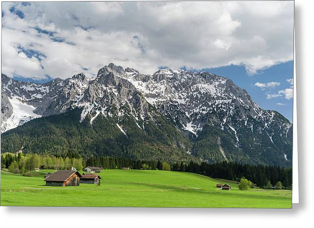 The Karwendel Mountain Range Greeting Card