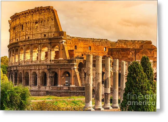 The Majestic Coliseum - Rome Greeting Card