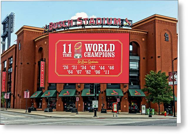 11 Time World Champion St Louis Cardnials Dsc01294 Greeting Card
