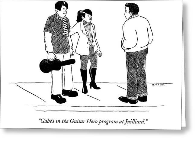 Gabe's In The Guitar Hero Program At Juilliard Greeting Card