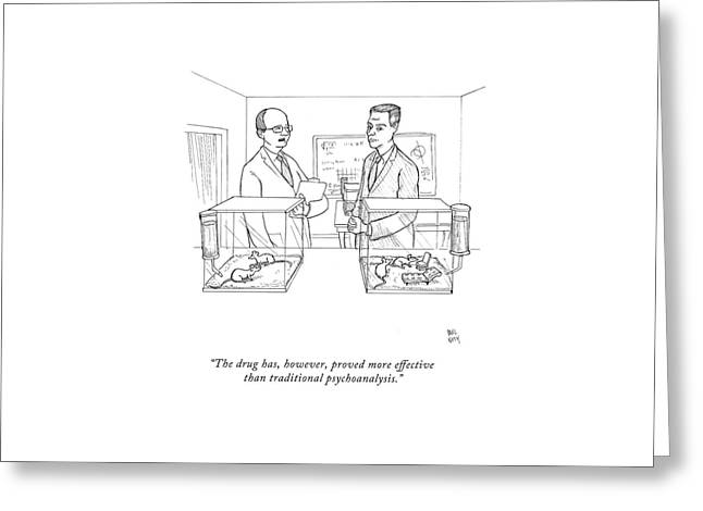 The Drug Greeting Card by Paul Noth