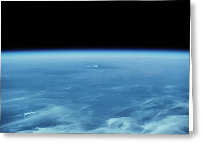 View Of Planet Earth From Space Showing Greeting Card