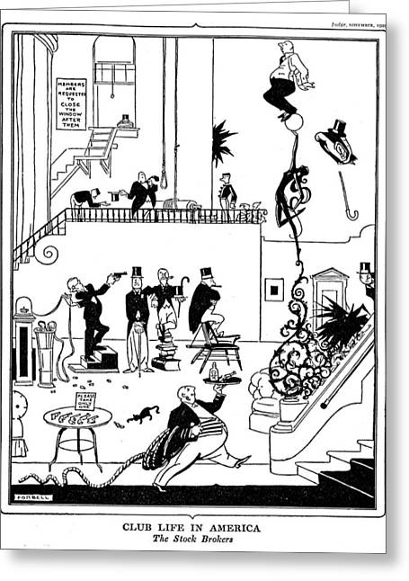 Wall Street Crash, 1929 Greeting Card by Granger