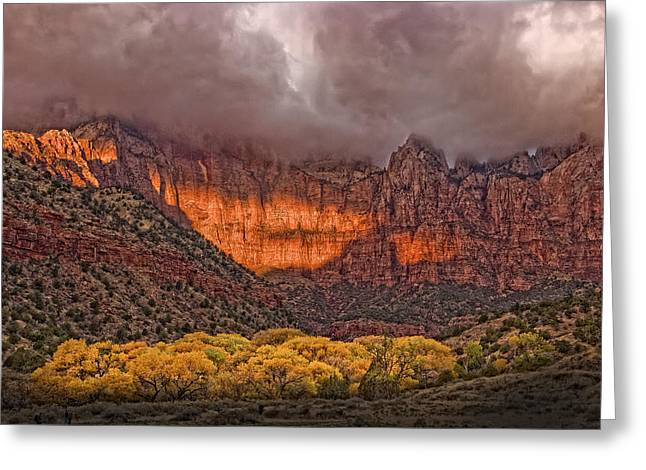 Zion National Park Utah Greeting Card by Utah Images