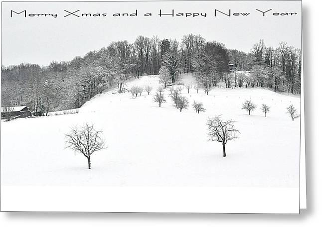 111 - Snowscape Greeting Card by Patrick King