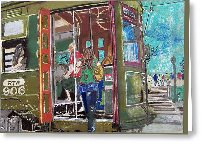 111708 New Orleans Street Car  Greeting Card by Garland Oldham