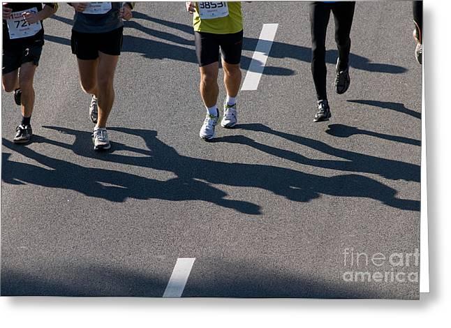 11th Poznan Marathon Greeting Card by Michal Bednarek