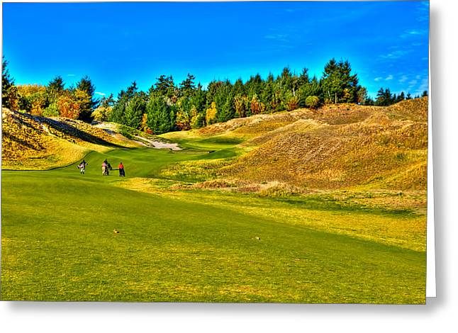 #12 At Chambers Bay Golf Course - Location Of The 2015 U.s. Open Championship Greeting Card by David Patterson