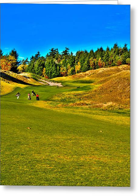 #12 At Chambers Bay Golf Course - Location Of The 2015 U.s. Open Tournament Greeting Card by David Patterson