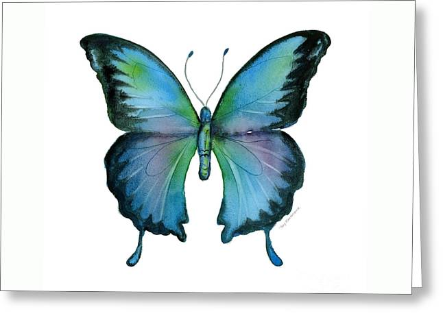 12 Blue Emperor Butterfly Greeting Card