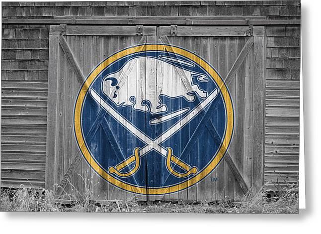 Buffalo Sabres Greeting Card by Joe Hamilton