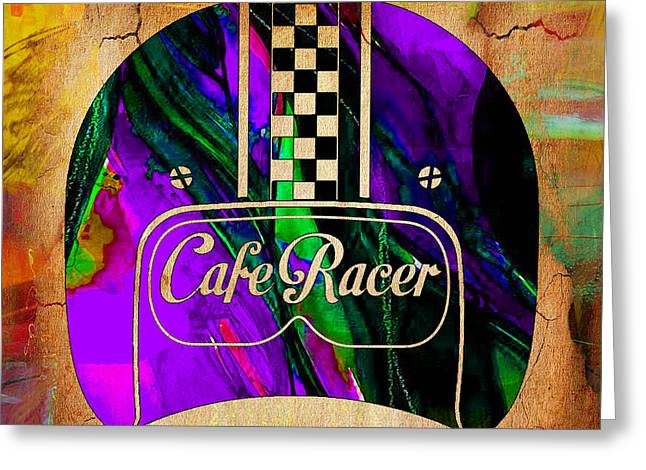 Cafe Racer Greeting Card by Marvin Blaine