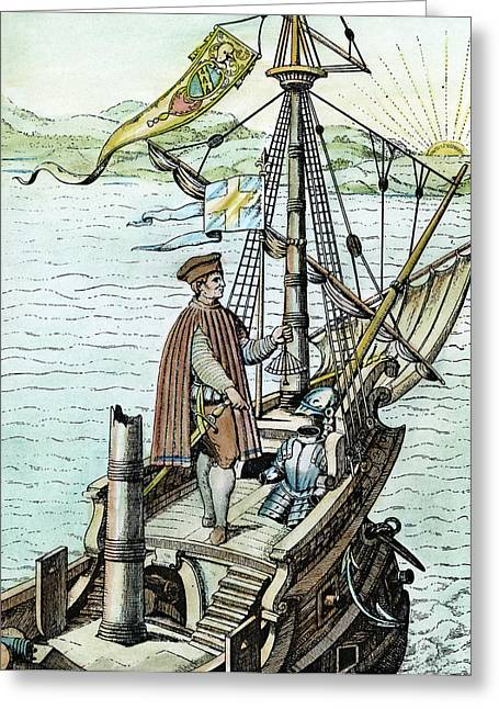Christopher Columbus (1451-1506) Greeting Card by Granger