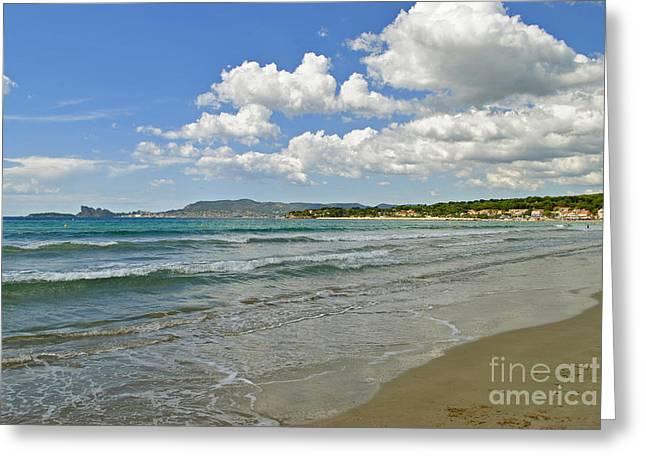 Beautiful Seashores Of Cote D'azur Greeting Card by Maja Sokolowska