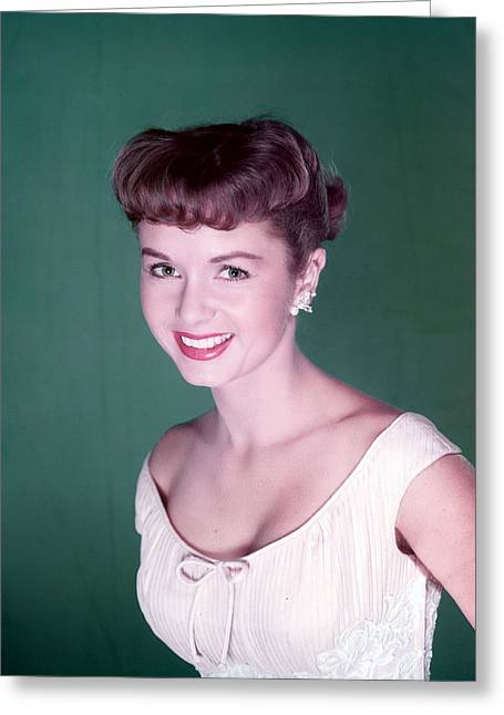 Debbie Reynolds Greeting Card by Silver Screen