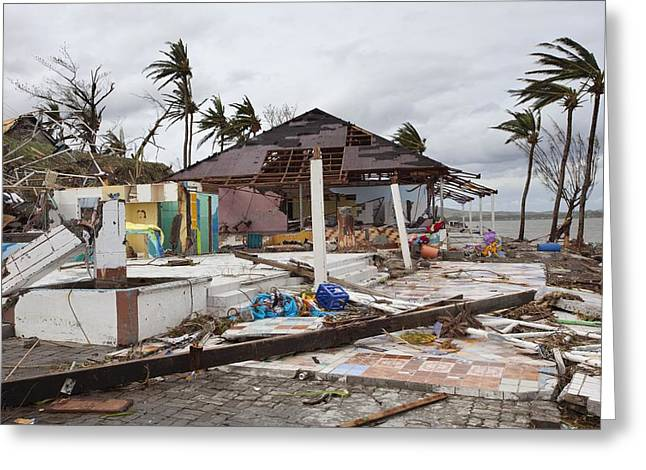 Destruction After Super Typhoon Haiyan Greeting Card by Jim Edds