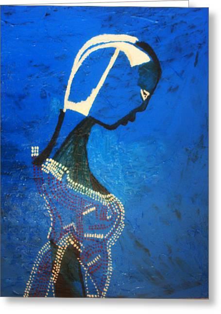 Dinka Bride - South Sudan Greeting Card by Gloria Ssali