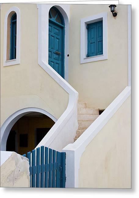Greece, Santorini, Thira, Oia Greeting Card